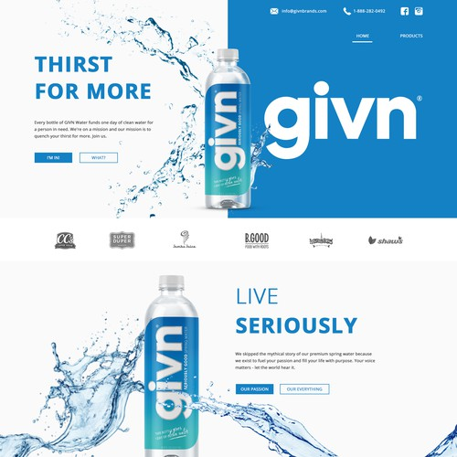 Web Design Concept for givn