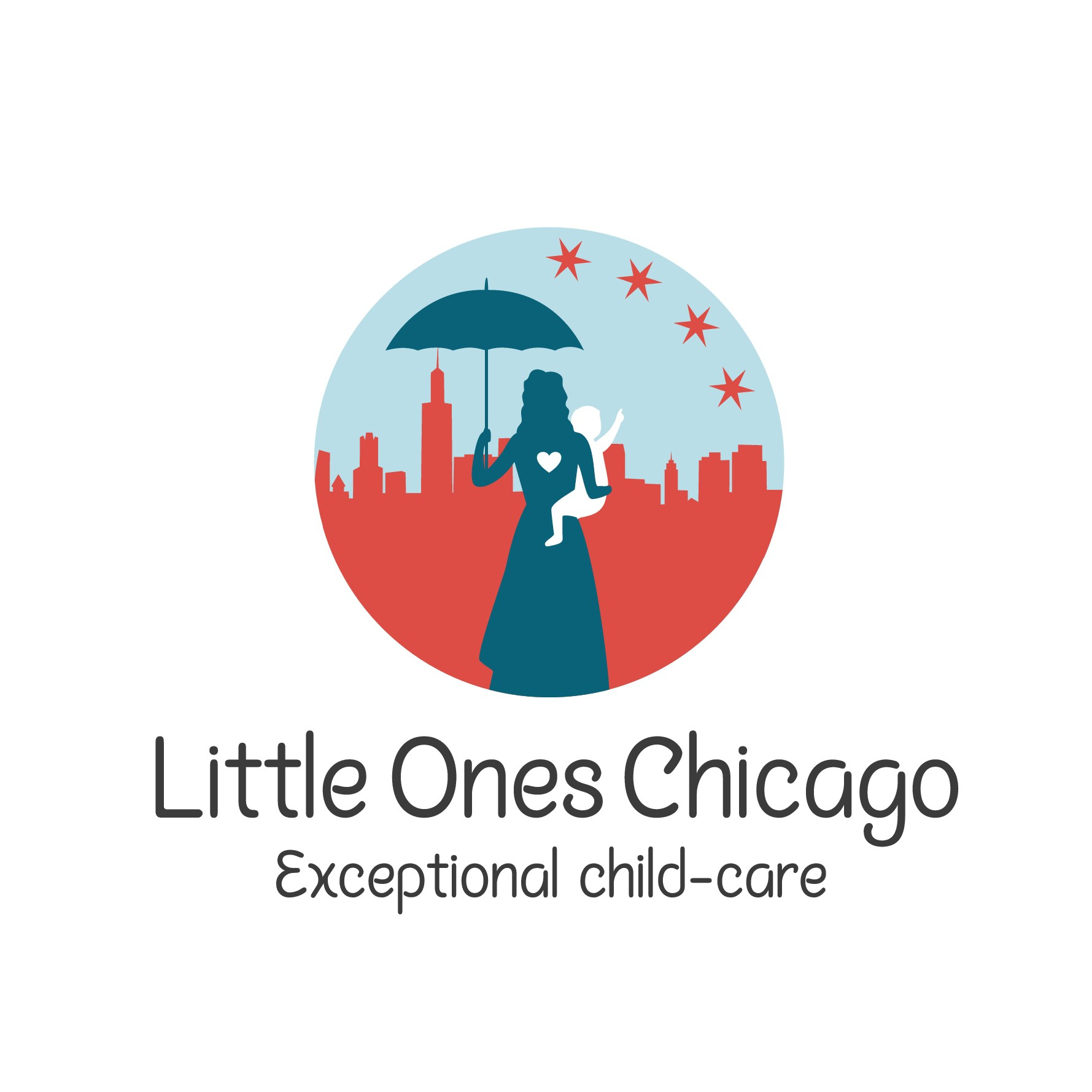 Design a logo for Little Ones Chicago appealing to parents of small children