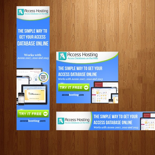 Banner Ad Design Contest for Access Hosting Databases