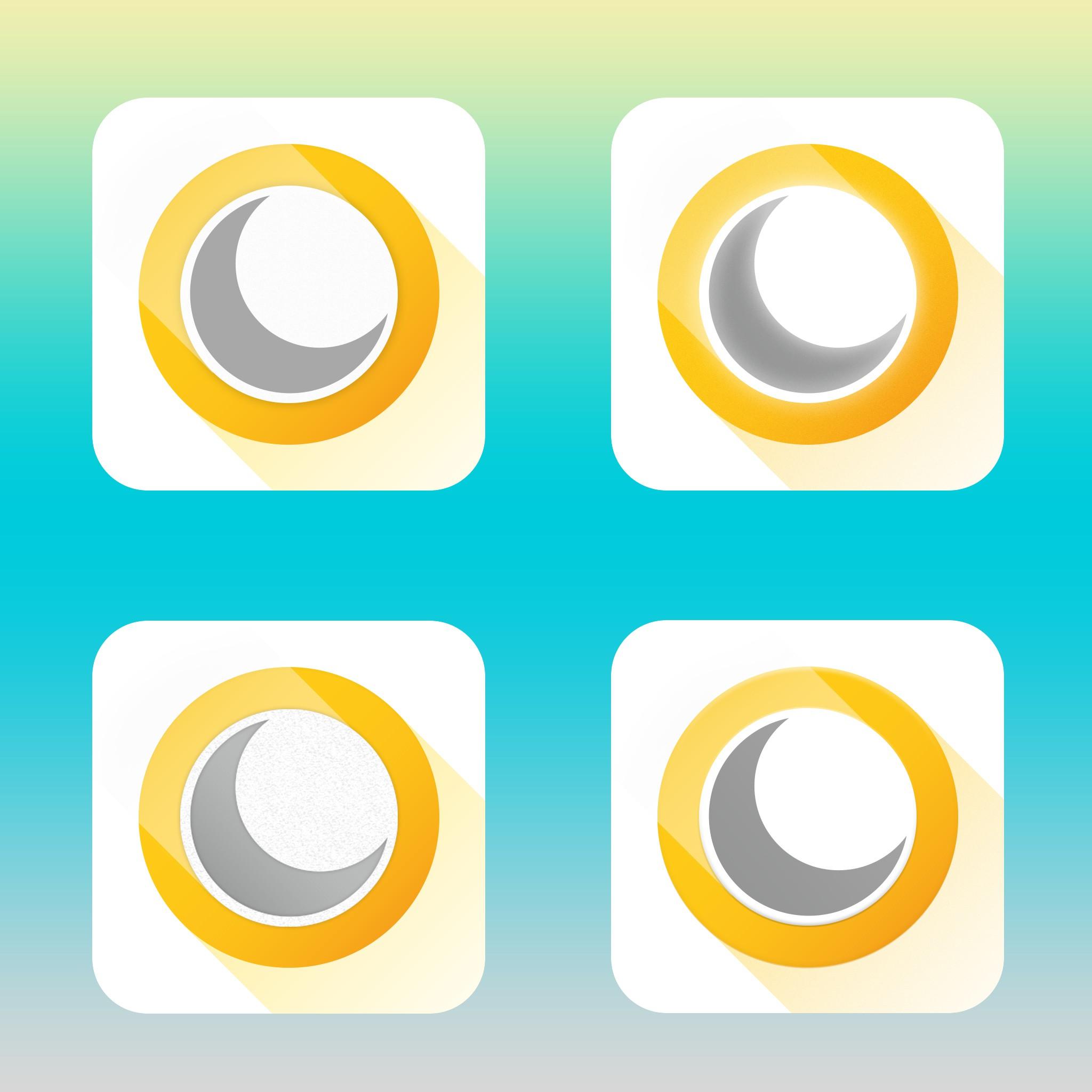 Create a modern iOS app icon.