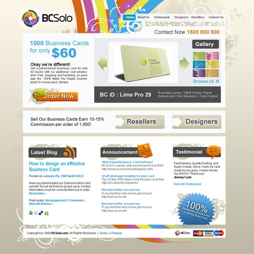 BCSolo needs a fun, sexy, state-of-the-art website design