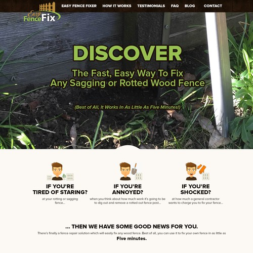 Website design for Easy Fence Fix
