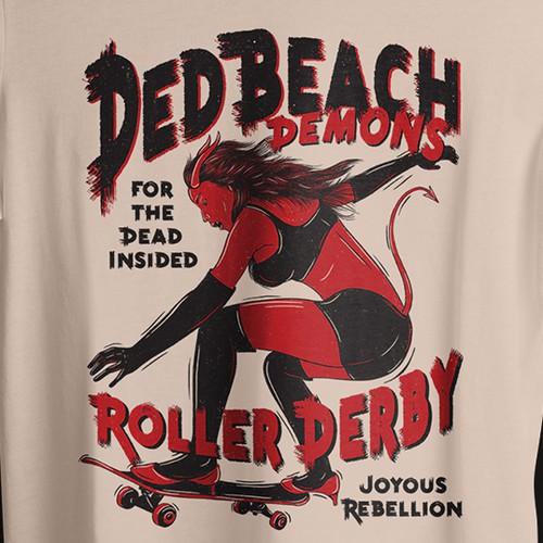 Shirt Illustration for Roller Derby Team