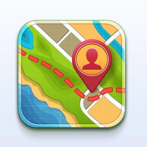 iOS Navigation App Icon Design