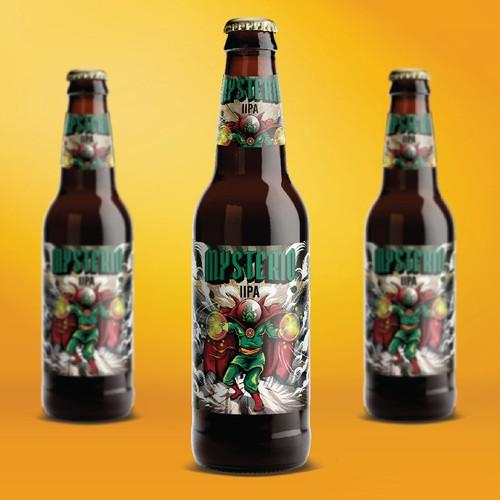 beer label design stockade