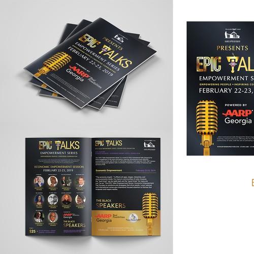 "Brochure for ""Epic Talks"""