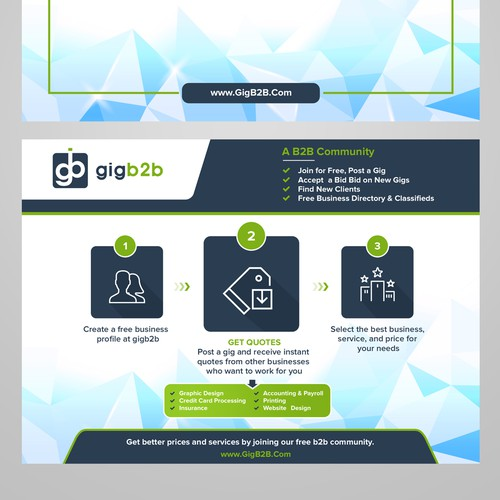 Flyer design for gigb2b