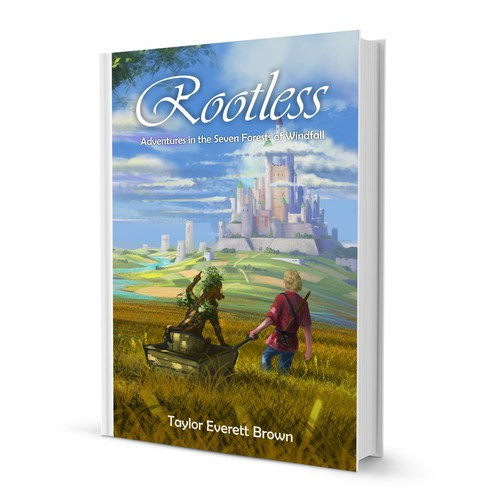 Breathtaking landscape illustration for Rootless, a faerie tale adventure