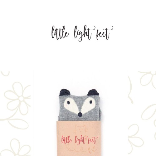 Whimsical logo for Little Light Feet (children's fashion)