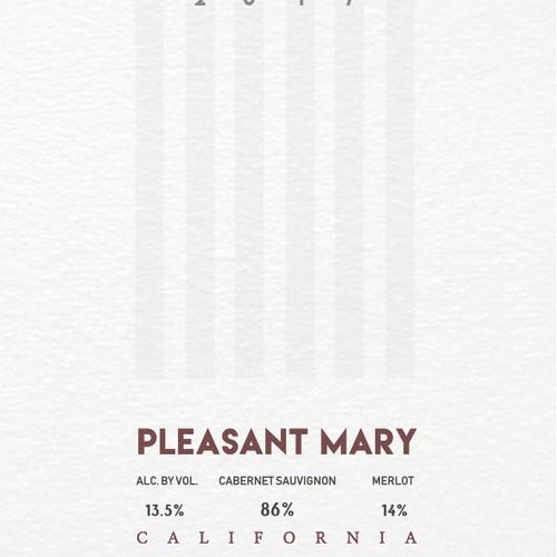 Wine label Pleasant Mary