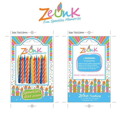 Zeunk Candles Label Developments