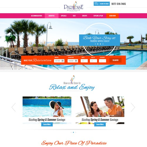 Paradise resort webdesign
