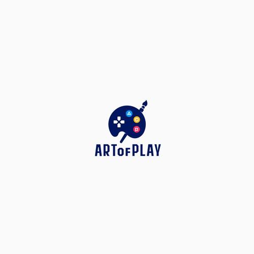Art of play concept logo