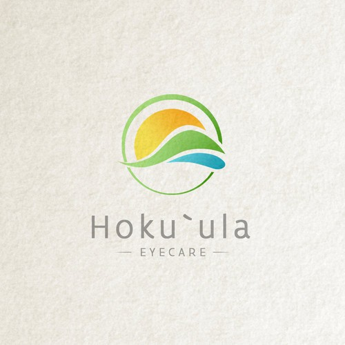 Logo for Hawaiian company that provides eye care and eye wear.