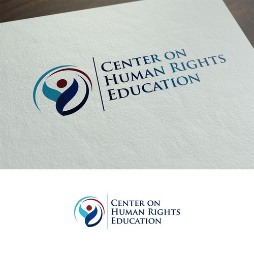 Create a reflective logo for Human Rights Center (COHRE