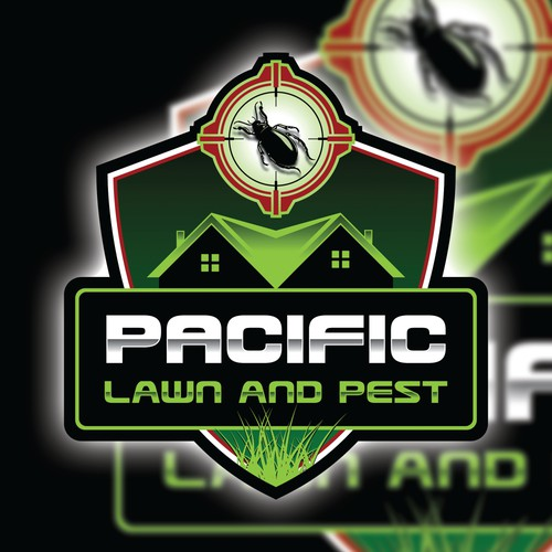 Logo for a full-service lawn care chemical application and pest control services.