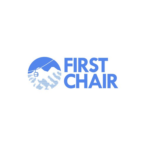 Simple logo concept for First Chair Company