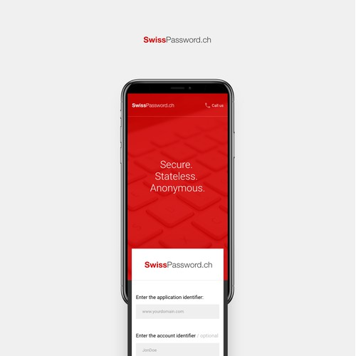 Mobile concept for SwissPassword