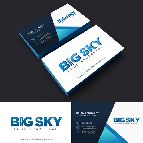Logo & Business Card Design for Big Sky Food Brokerage