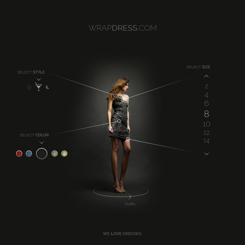 Create a visually exciting website for wrapdress.com!