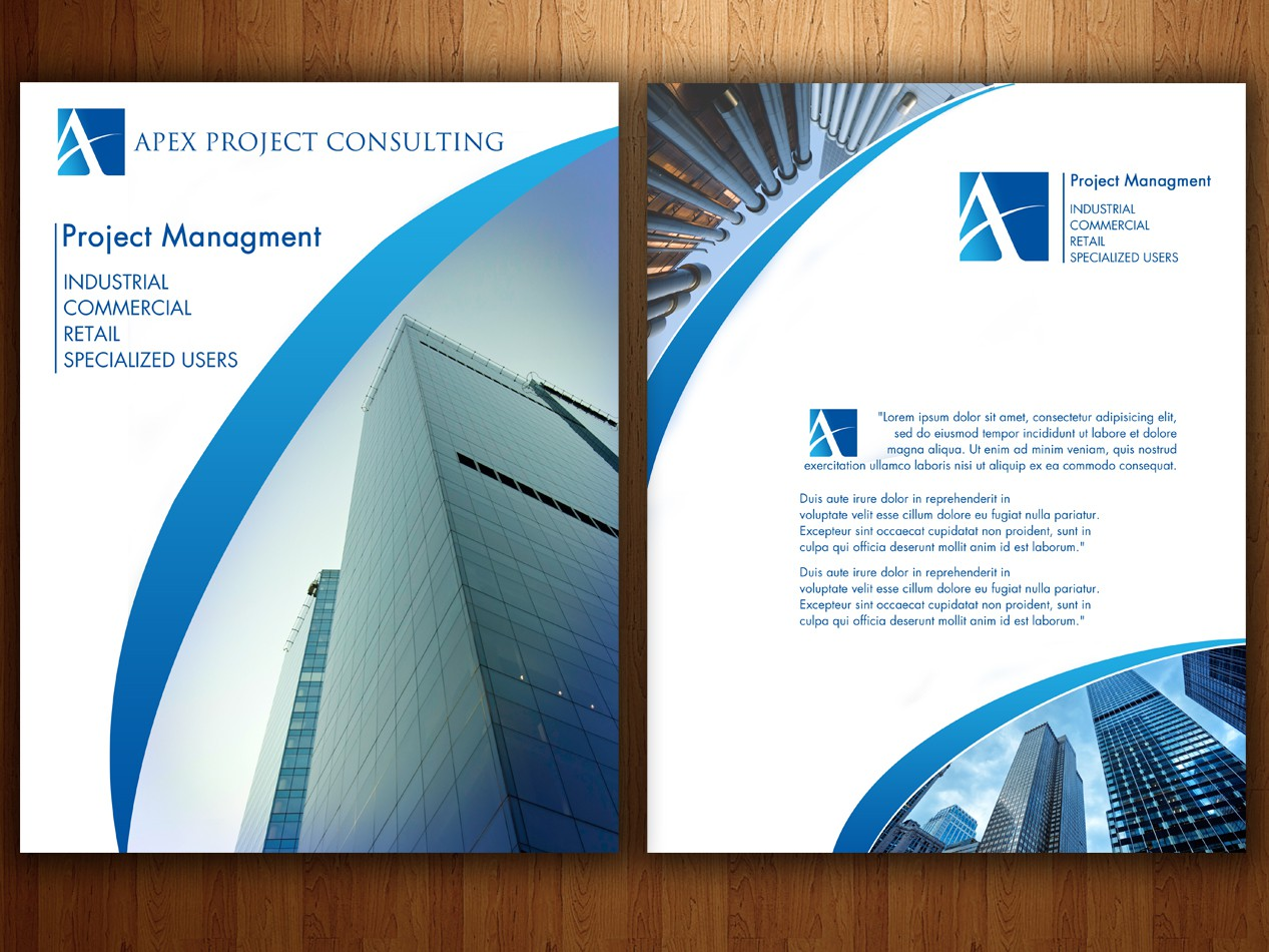 Help Apex Project Consulting, Inc with a new print or packaging design