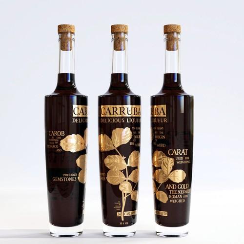 Premium liqueur label