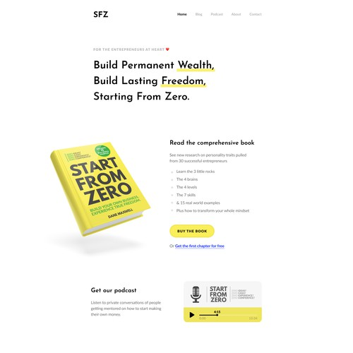 Book and Course Landing Page