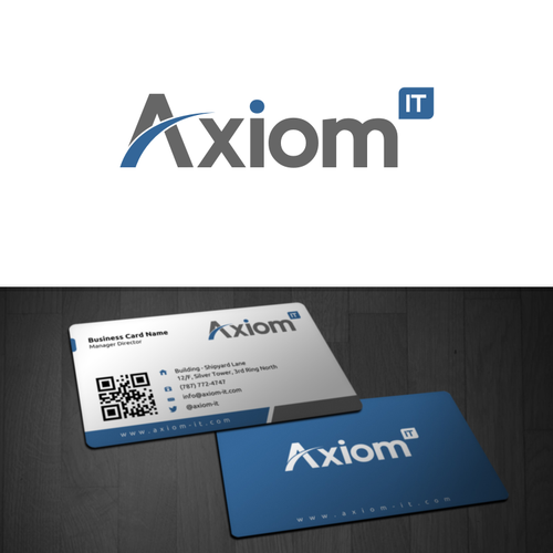 Help Axiom IT with a new logo and business card