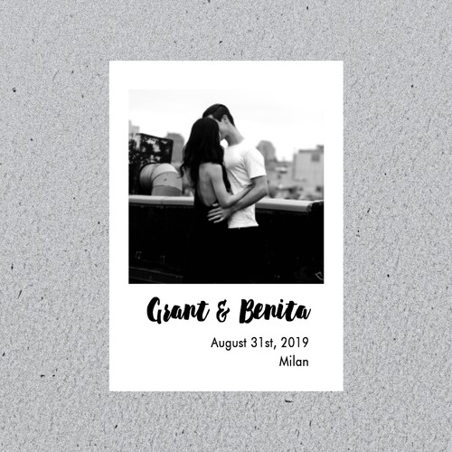 Save-the-date for beautiful couple