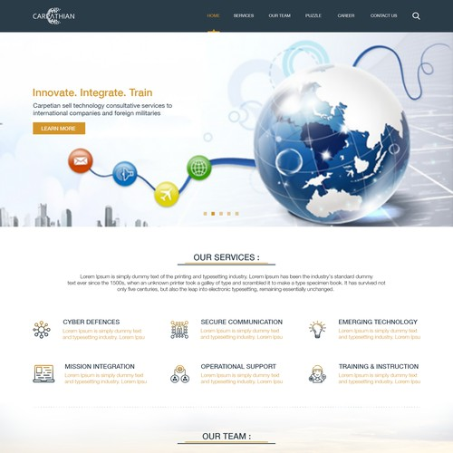 technology webpage design