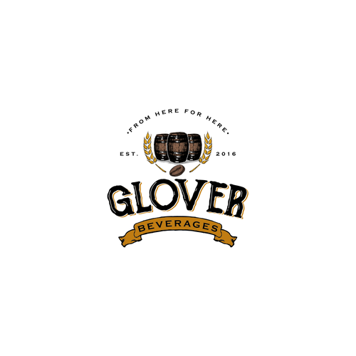 Classic logo design for Glover Beverages