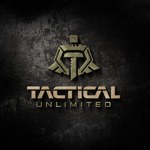 Bold logo concept for tactical equipment.