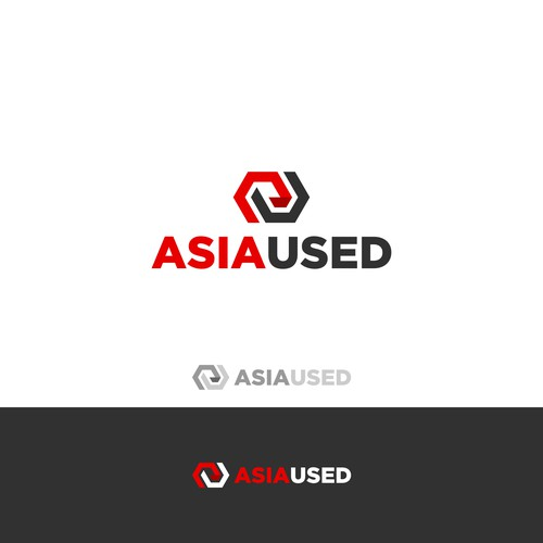 Asiaused logo design
