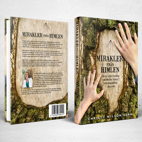 Book cover design for Mirakler från himlen (Miracles from heaven)