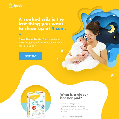TOP BABY-PRODUCTS BRAND NEEDS YOUR HELP - LANDING PAGE DESIGN