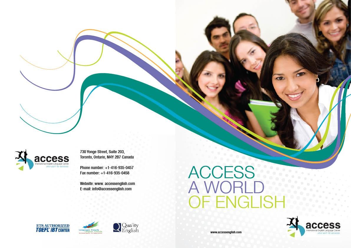 Access International English Language Centre needs a new Brochure