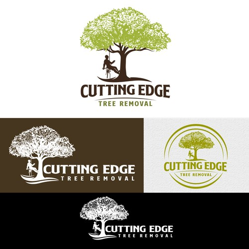 CUTTING EDGE Tree Removal Logo