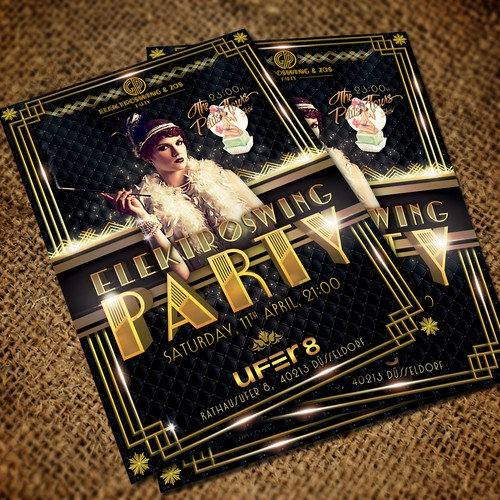 Electro swing party flyer
