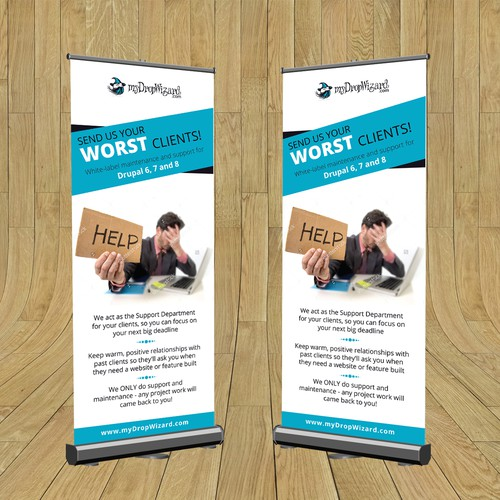 Roll up banner design concept