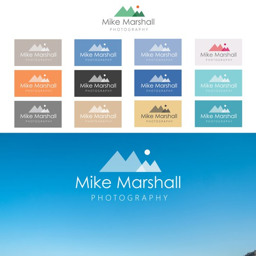 Modern Photography Logo for Full-Page Minimalist Homepage