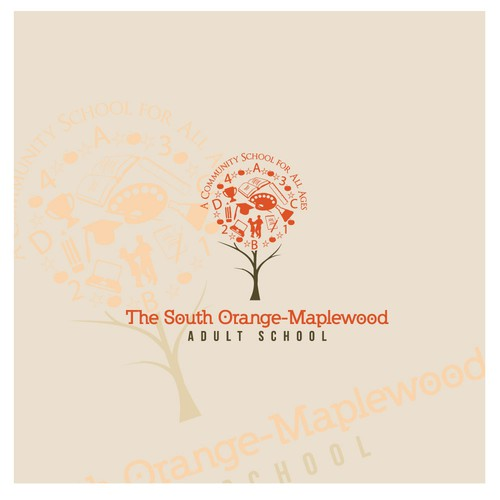 Create a winning logo for The South Orange-Maplewood Adult School