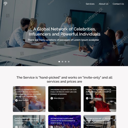 Corporate Landing page