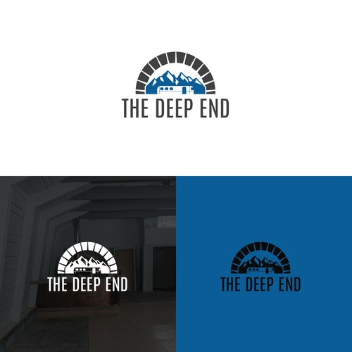 Design a Restaurant/Bar logo for The Deep End