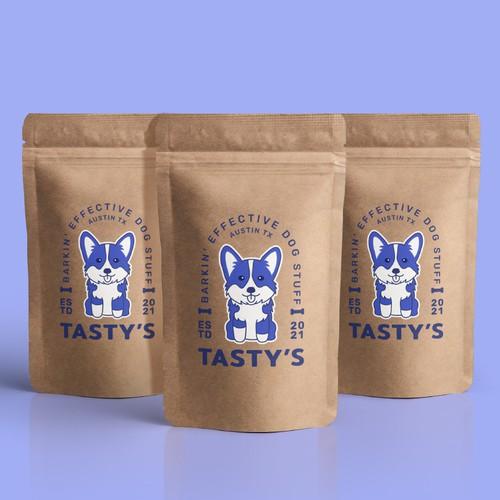Logo concept for a dog snack