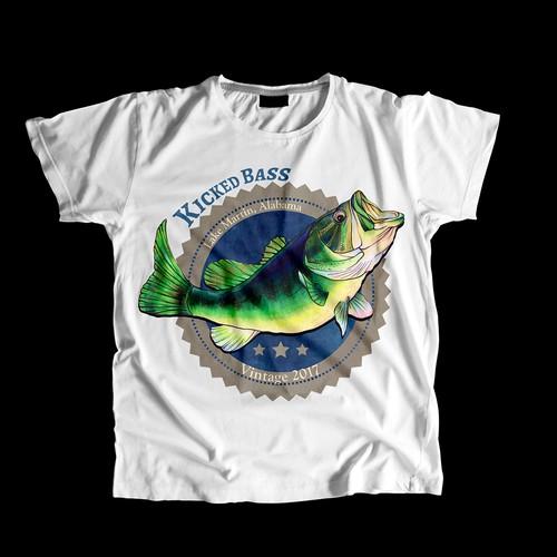 T-shirt design with hand-drawn illustration