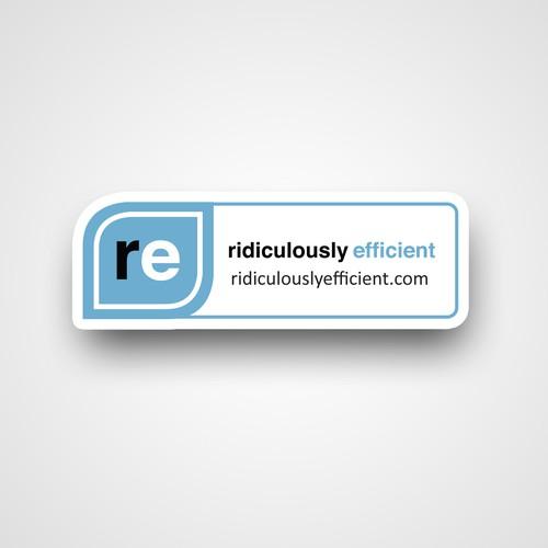 minimalist logo sticker for Ridiculously Efficient