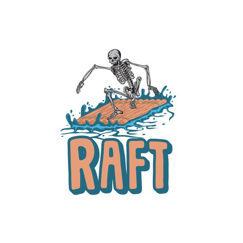 Hip playful logo for rafting