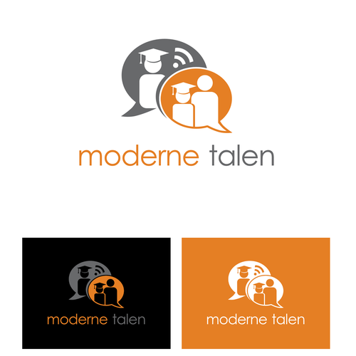 "powerful design for the informative website ""Moderne talen"""