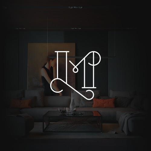 Elegant Line Monogram LM