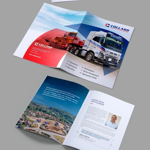 New brochure design concept for Collard Group